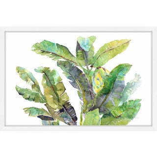 'Banana Leaves Top' Framed Painting Print