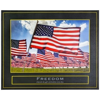 Freedom Motivational Inspirational Canvas Print