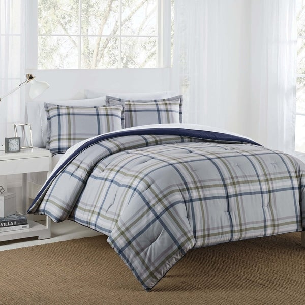 Top Product Reviews For Vellux Ethan Plush Sherpa Plaid Comforter Set 19628623 Overstock