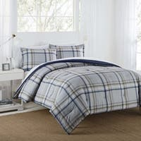 IZOD Connor Grey/Navy Comforter Set
