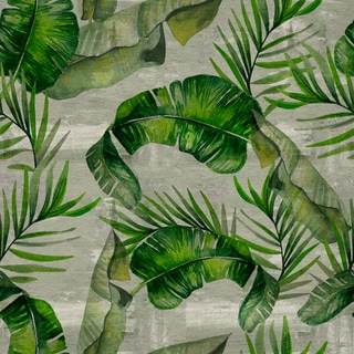Marmont Hill - Handmade Banana Leaf Madness Print on Wrapped Canvas