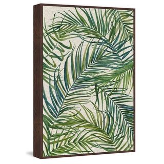 Marmont Hill - Handmade Swirling Palms Floater Framed Print on Canvas