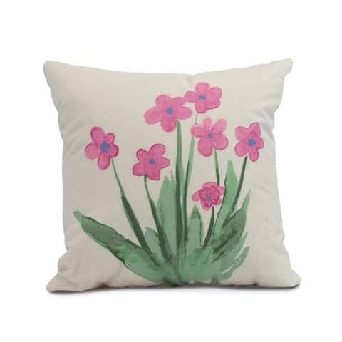 16 x 16 inch Pretty Little Flower Outdoor Pillow