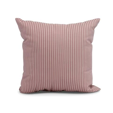 16 x 16 inch Ticking Stripe Outdoor Pillow
