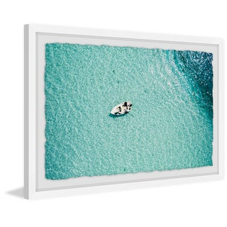 Link to Marmont Hill - Handmade Clear Blue Lake Framed Print Similar Items in Art Prints