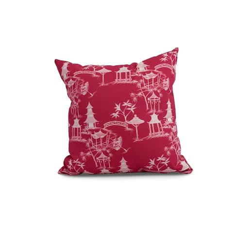 16 x 16 Inch Chinapezka Floral Print Outdoor Pillow