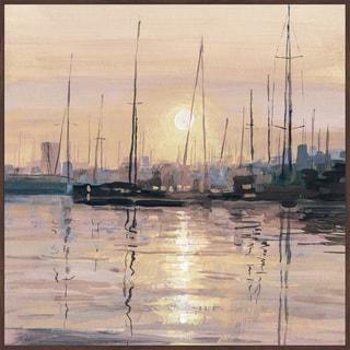 Marmont Hill - Handmade Eminent Sunset Floater Framed Print on Canvas