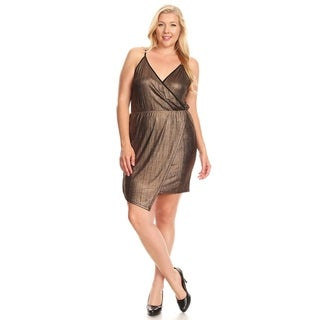 Xehar Womens Plus Size Sexy Metallic Short Mini Cocktail Dress (3 options available)