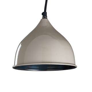 "CG Sparks Handmade Percy Pendant Light Hardwire 8"" Dia. Opal Grey (India)"