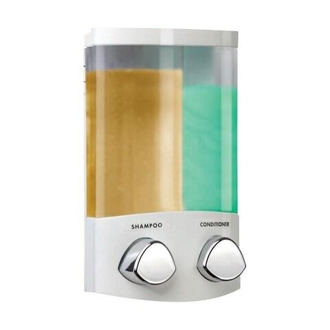 Better Living Euro 7.8 in. H White ABS plastic Soap and Shower Dispenser White/Chrome Buttons