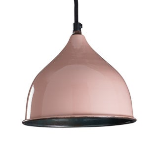 "CG Sparks Handmade Percy Pendant Light Hardwire 8"" Dia. Rose (India)"