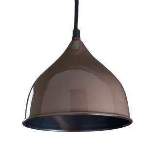 "CG Sparks Handmade Percy Pendant Light Hardwire 8"" Dia. SharkBrown (India)"