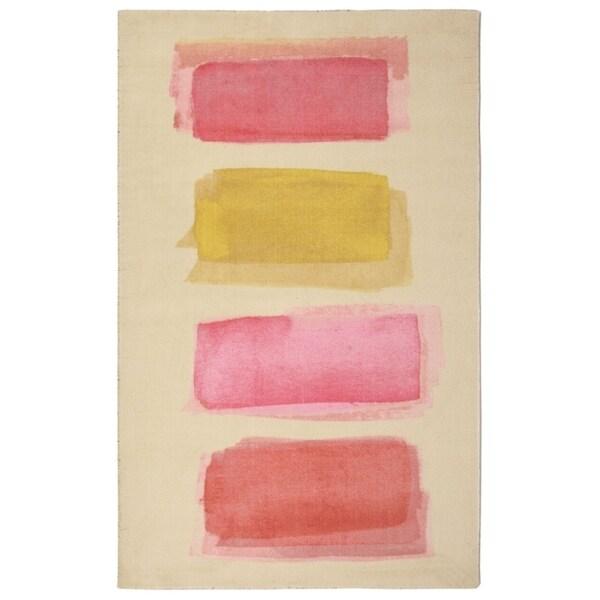 "RugSmith Pink Lens Flare Modern Geometric Area Rug, 7'6"" x 9'6"" - 7'6"" x 9'6"""