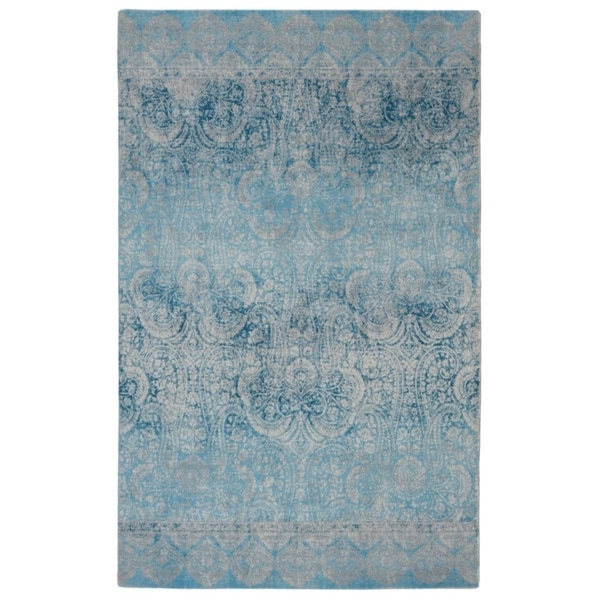 """RugSmith Blue Gradient Contemporary Modern Area Rug, 7'6"""" x 9'6"""" - 7'6"""" x 9'6"""""""