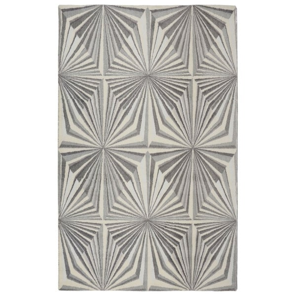 "RugSmith Grey Illusion Modern Geometric Area Rug - 7'6"" x 9'6"""