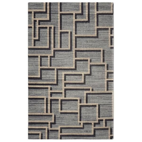 "RugSmith Grey Tetris Mid-Century Geometric Area Rug - 7'6"" x 9'6"""