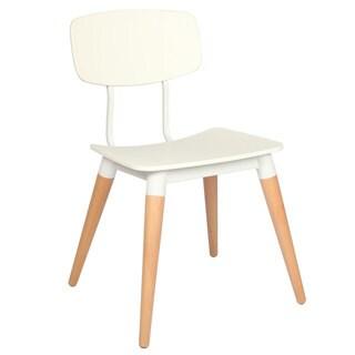 Handmade Mid-Century Modern Retro White Dining Chair (China)