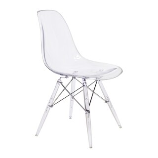 Handmade Clear Transpared Mid-Century Modern Side Chair with Clear Legs (China)
