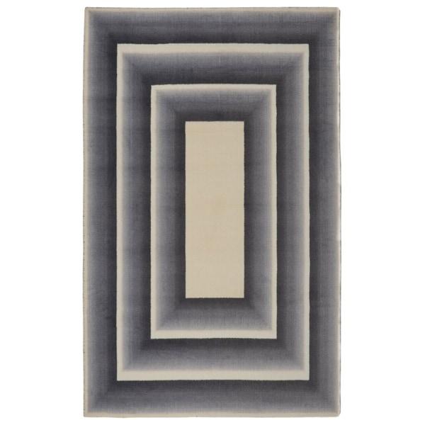 RugSmith Grey Nylon Frame Modern Geometric Area Rug - 7'6 x 9'6
