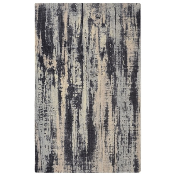 "RugSmith Grey Oak Contemporary Modern Area Rug, 7'6"" x 9'6"" - 7'6"" x 9'6"""