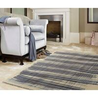"RugSmith Navy Scratch Contemporary Modern Area Rug, 7'6"" x 9'6"" - 7'6"" x 9'6"""