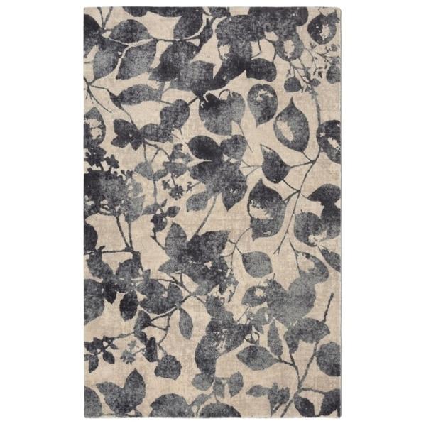 "RugSmith Charcoal Samba Modern Floral Area Rug, 7'6"" x 9'6"" - 7'6"" x 9'6"""