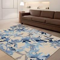"""RugSmith Blue Midnight Garden Modern Floral Area Rug, 7'6"""" x 9'6"""" - 7'6"""" x 9'6"""""""