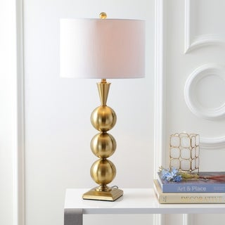 """Link to Mackenzie 33"""" Metal LED Table Lamp, Brass by JONATHAN  Y Similar Items in Table Lamps"""