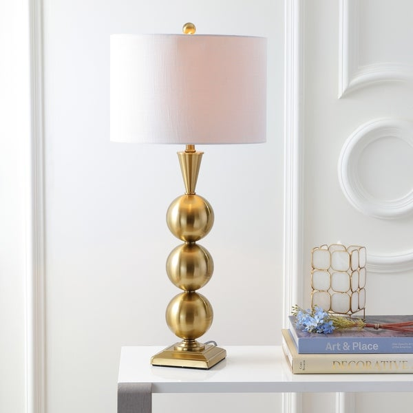 "Mackenzie 33"" Metal LED Table Lamp, Brass"