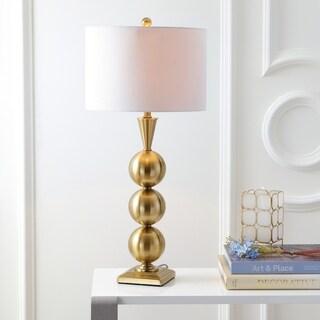 "Mackenzie 33"" Metal LED Table Lamp, Brass"