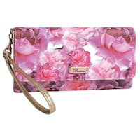 Buxton Brilliant Large Floral Night Out Wristlet