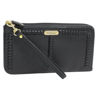 Buxton Whip Stitch L-Zip Wristlet (3 options available)