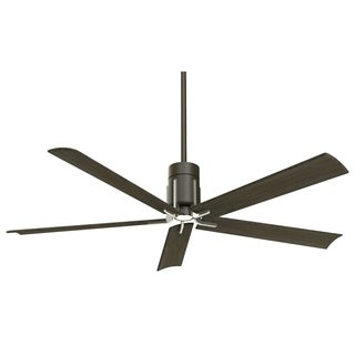 Minka Aire Clean Matte Black/Brushed Nickel Finish LED 60-inch Ceiling Fan