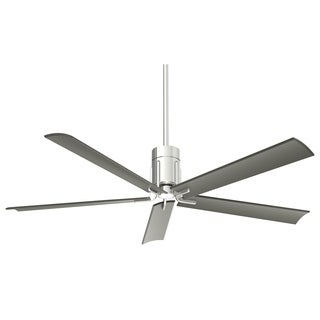Minka Aire Clean Polished NIckel Finish Metal 60-inch LED Celing Fan
