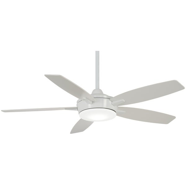 Minka Aire Ee 52 Led Ceiling Fan In White Finsh Free Shipping Today 20176280