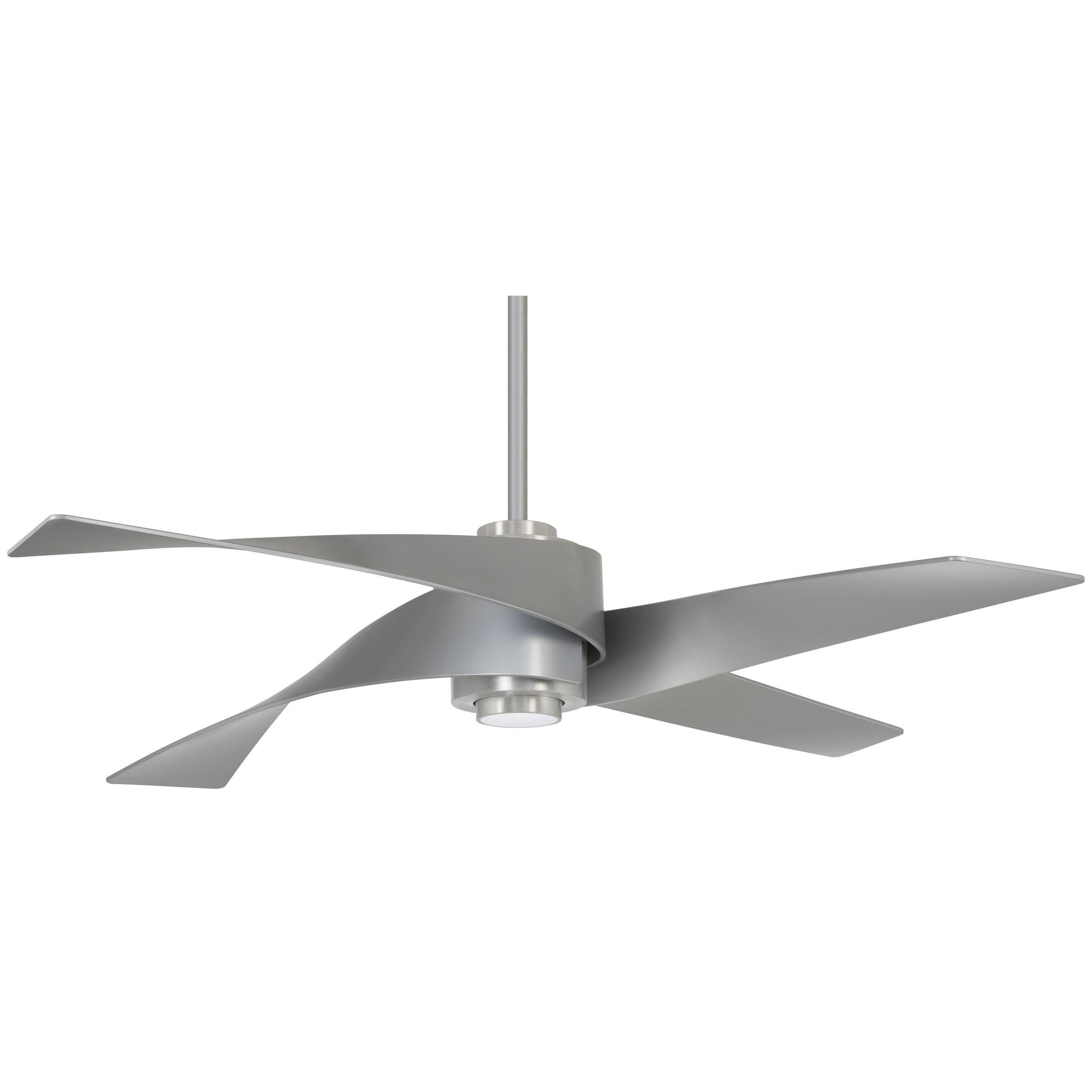 Artemis Iv 64 Inch Led Ceiling Fan In Brushed Nickel W Silver Finish Blades N A