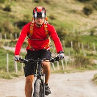 Ultralight Mountain Bike Helmet - with Goggles