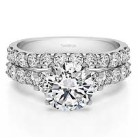 TwoBirch Bridal Set (Two Rings) in 10k Gold and Diamonds (G,I2) (2.22 Tw ) - Clear