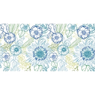 Link to 20 x 20 Inch Zentangle 4 Color Floral Print Outdoor Pillow (As Is Item) Similar Items in As Is