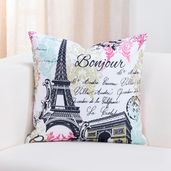 Sis Covers Paris Cotton Throw Pillow