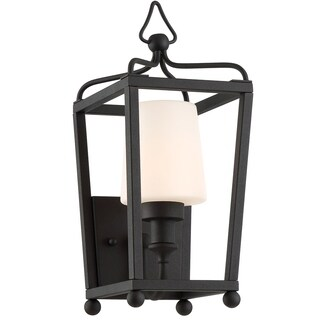 Crystorama Libby Langdon-Sylvan Collection 1-light Black Forged Outdoor Wall Sconce