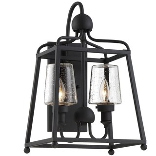 Crystorama Libby Langdon-Sylvan Collection 2-light Black Forged Outdoor Wall Sconce