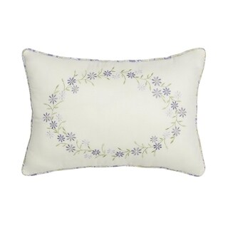 Nostalgia Home Cathedral Window Embroidered Decorative Pillow