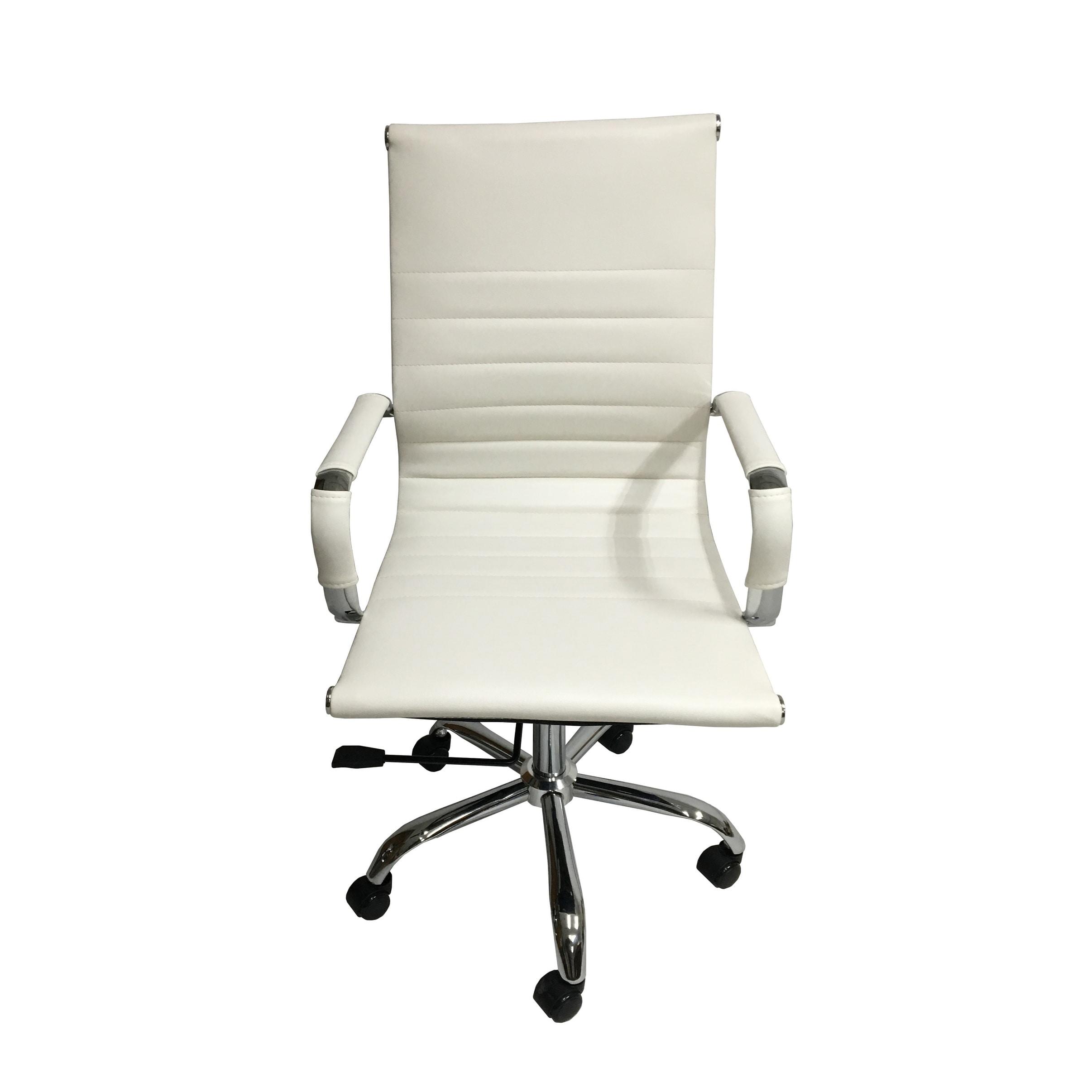 Arizona Office Chair White Gel Leather
