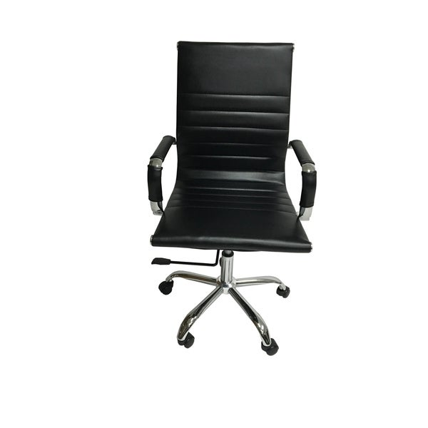 Arizona Office Chair Gel Black Leather