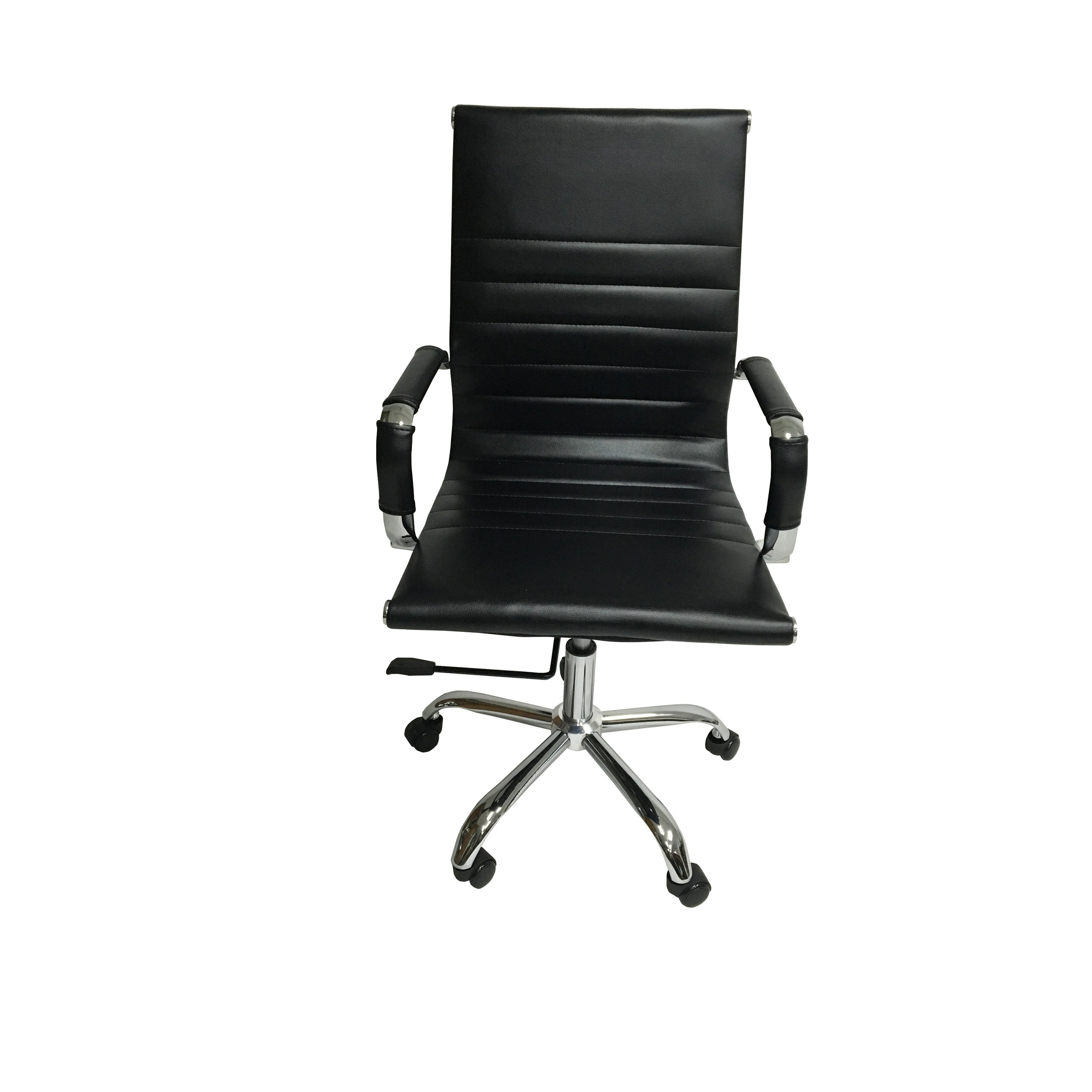 Arizona Office Chair Gel Black Leather Free Shipping On Orders Over 45 20177765