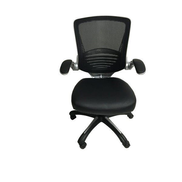 Shop Delaware Office Chair Black Linen Free Shipping Today