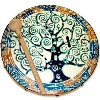 Handmade Frame Drum Tree Of Life (Indonesia)