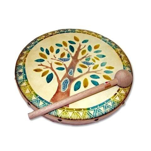 Handmade Frame Drum Blooming Tree (Indonesia)