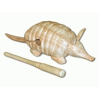 Handmade Armadillo Wood Block Scrapper - Large (Indonesia) 33526641